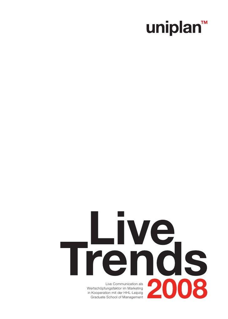 Live Communication alsWertschöpfungsfaktor im Marketingin Kooperation mit der HHL-Leipzig  Graduate School of Management