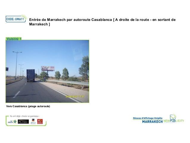 Vers Casablanca (péage autoroute)Entrée de Marrakech par autoroute Casablanca [ A droite de la route - en sortant deMarrak...