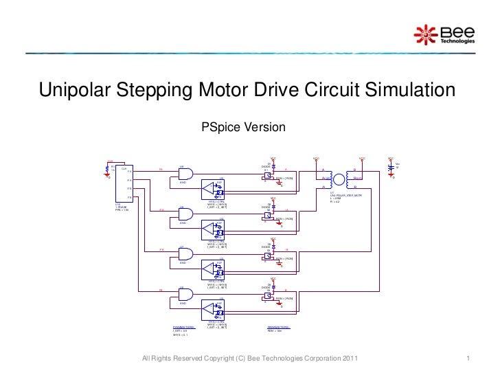 Unipolar Stepping Motor Drive Circuit Simulation                                                          PSpice Version  ...