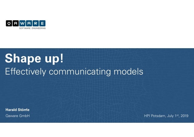 Effectively communicating Models