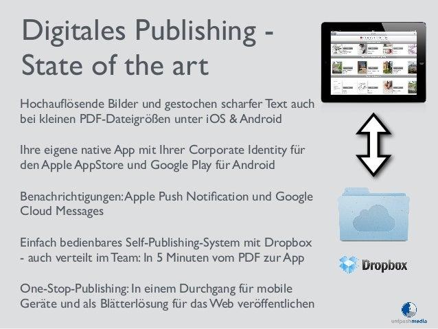 Digitales Publishing -  State of the art  Hochauflösende Bilder und gestochen scharfer Text auch  bei kleinen PDF-Dateigrö...