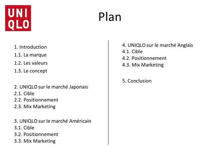 uniqlo marketing plan Both giordano and uniqlo exhibit an integrated supply chain system in which the companies plan and marketing networks uniqlo giordano and uniqlo.