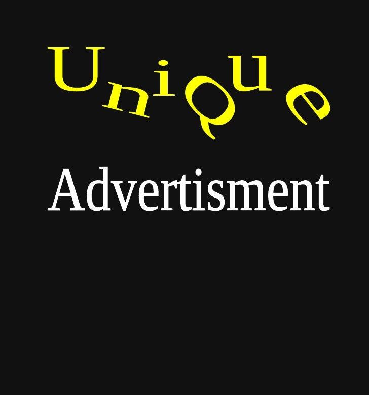 Advertisment U n i Q u e