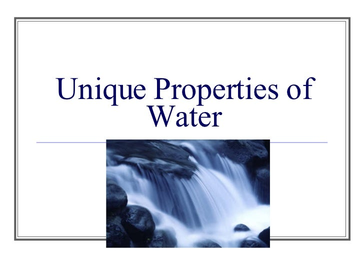 1 the unique properties characteristics of water make life possible on earth select three properties Unit one exam grading rubric for water essay 1 the unique properties of water make life possible on earth select three properties of water and.