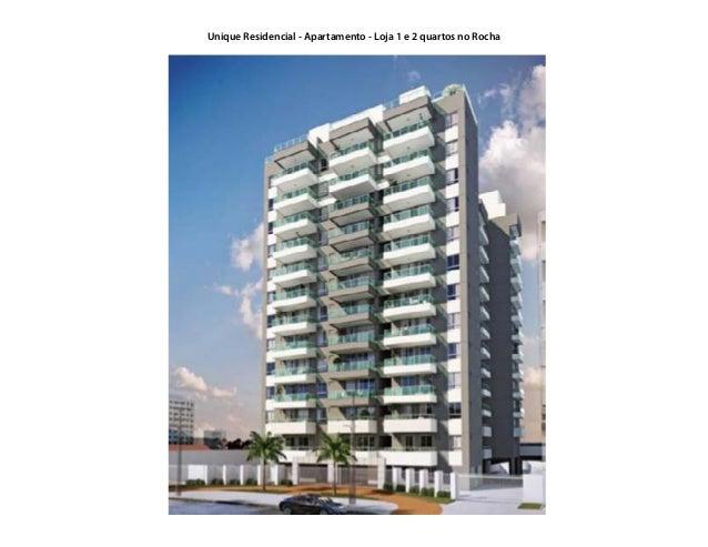 Unique Residencial - Apartamento - Loja 1 e 2 quartos no Rocha