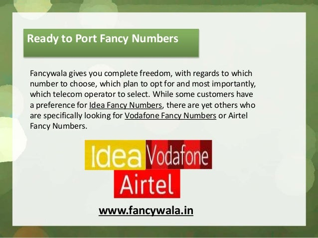 Mobile Phone Fancy Numbers   Sante Blog