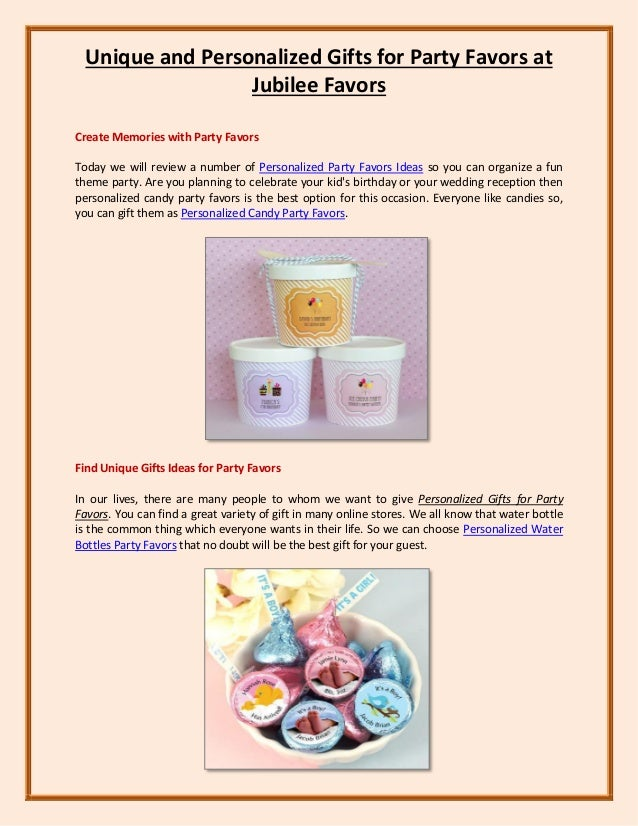 Unique And Personalized Gifts For Party Favors At Jubilee Favors