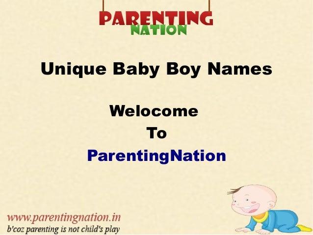 Unique Baby Boy Names Welocome To ParentingNation