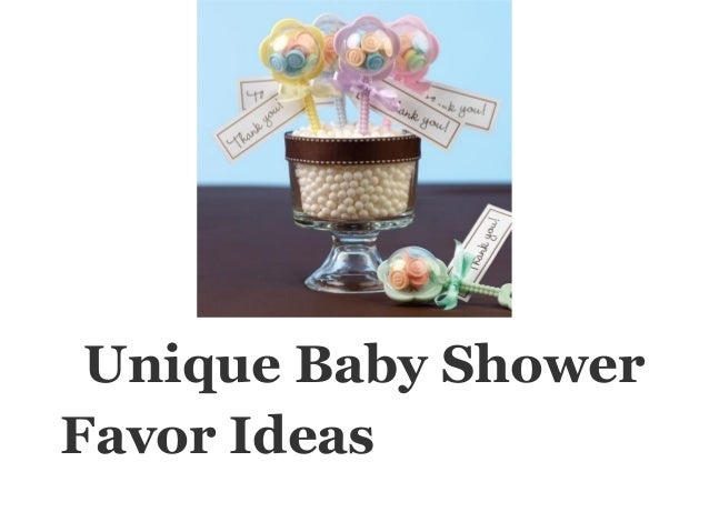 unique baby showerfavor ideas