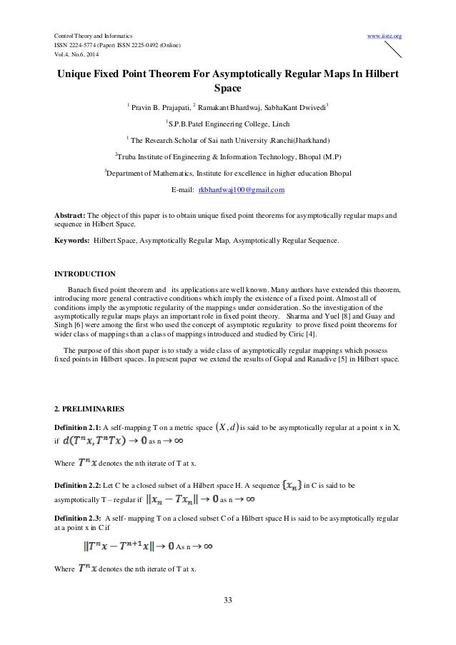 Control Theory and Informatics www.iiste.org ISSN 2224-5774 (Paper) ISSN 2225-0492 (Online) Vol.4, No.6, 2014 33 Unique Fi...