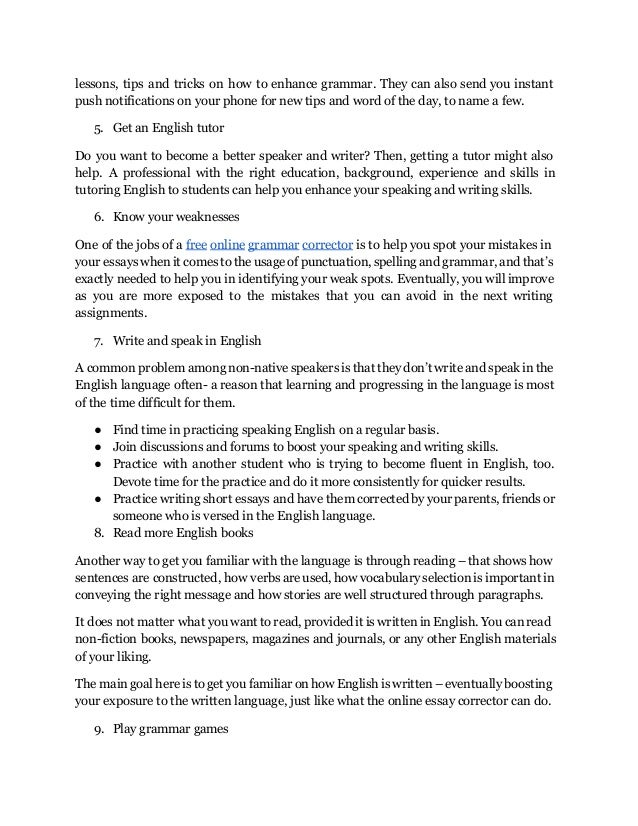 How To Write An Essay With A Thesis  To English   Examples Of A Thesis Statement For An Essay also Process Essay Thesis Statement Top  Ways On How To Correct Your Grammar How To Write A High School Essay