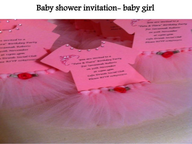 Unique ideas for your baby shower invitations baby shower invitation baby girl filmwisefo Choice Image