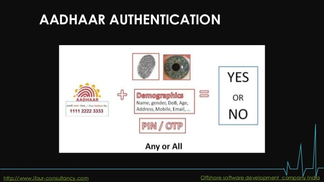 AADHAAR AUTHENTICATION http://www.ifour-consultancy.com Offshore software development company India