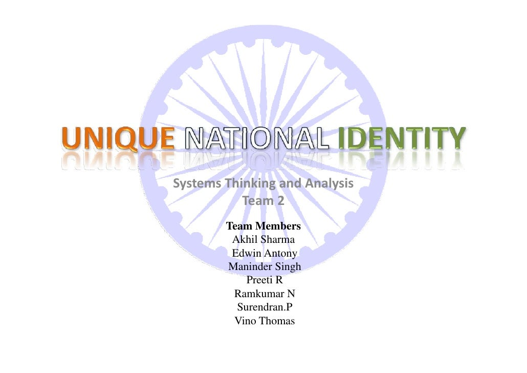 Systems Thinking and Analysis            Team 2         Team Members          Akhil Sharma          Edwin Antony         M...