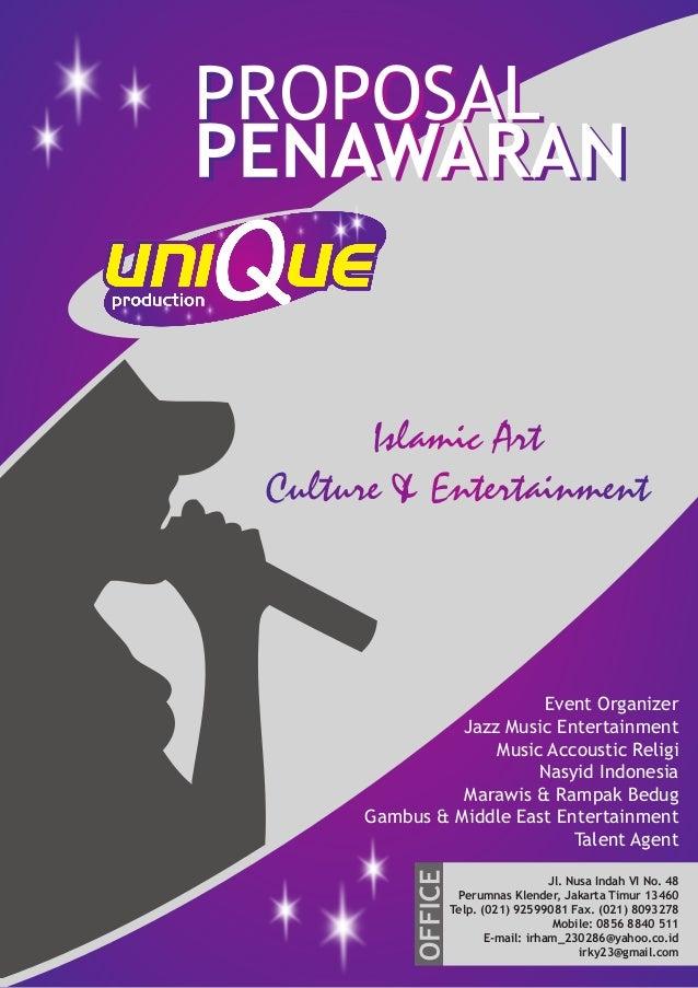 Islamic Art Culture & Entertainment Event Organizer Jazz Music Entertainment Music Accoustic Religi Nasyid Indonesia Maraw...