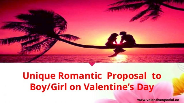 Unique Romantic Proposal to Boy/Girl on Valentine's Day www.valentinespecial.co