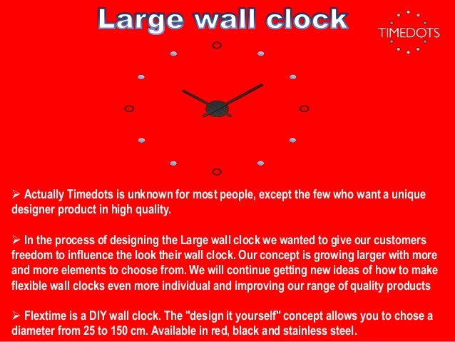 Unique selection of large wall clock manufacturer ...
