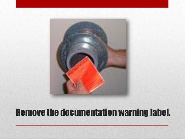 Remove the documentation warning label.