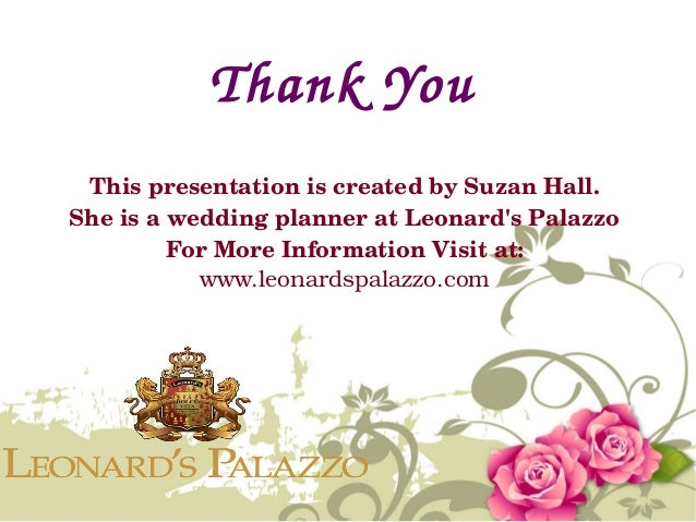 Leonards Palazzo 13 Thank You This Presentation