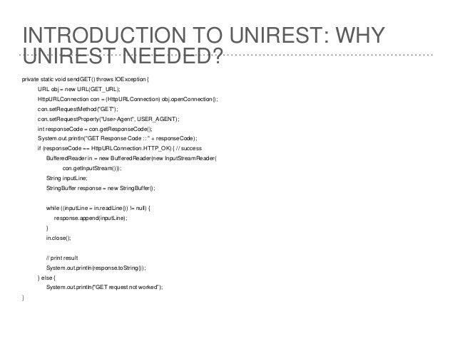 Unirest Java Tutorial | Java Http Client