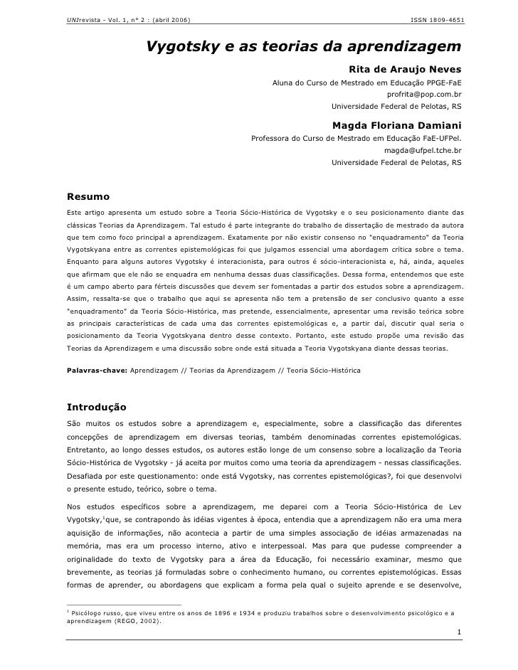 UNIrevista - Vol. 1, n° 2 : (abril 2006)                                                                ISSN 1809-4651    ...