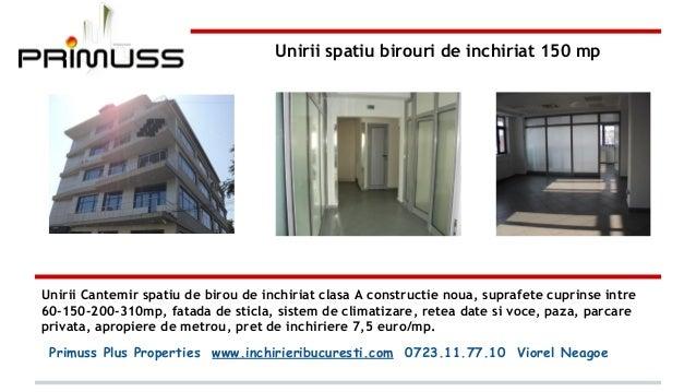 Unirii spatiu birouri de inchiriat 150 mp  Unirii Cantemir spatiu de birou de inchiriat clasa A constructie noua, suprafet...