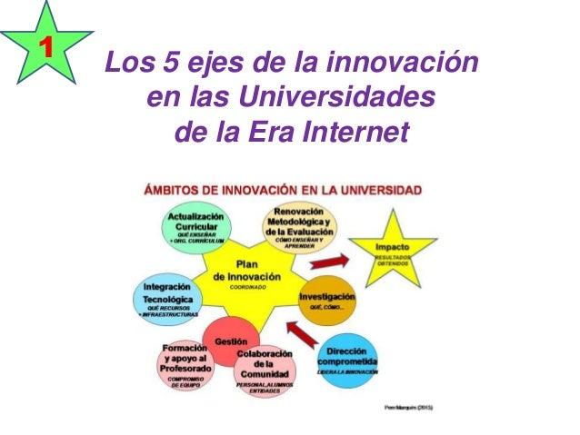 Los 5 ejes de la innovación en las Universidades de la Era Internet 1