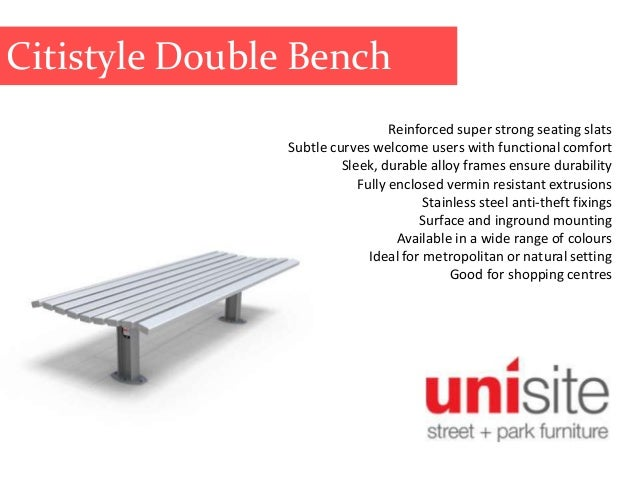 Unisite Bench Seats, Park Benches, Park Seating