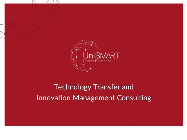 Technology Transfer and Innovation Management Consulting