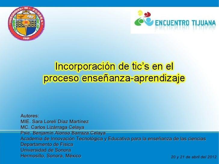 Autores:MIE. Sara Lorelí Díaz MartínezMC. Carlos Lizárraga CelayaPsic. Benjamín Alonso Barraza CelayaAcademia de Innovació...