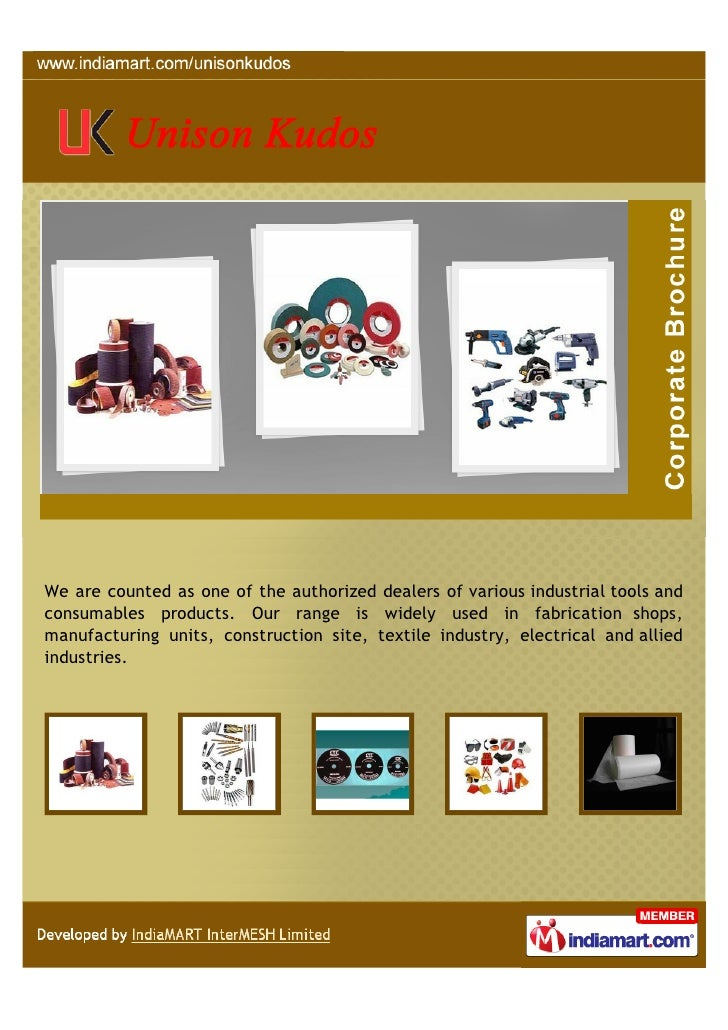 We are counted as one of the authorized dealers of various industrial tools andconsumables products. Our range is widely u...