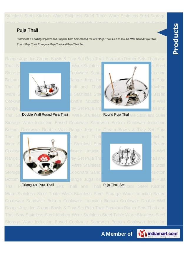 Unison Metals Limited, Ahmedabad, Stainless Steel Table Ware