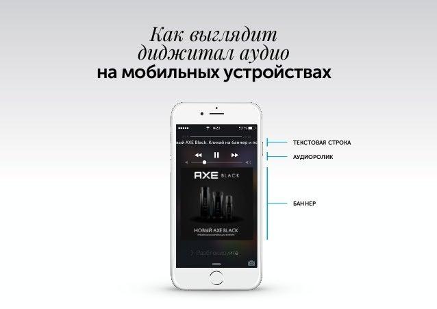 ТЕКСТОВАЯ СТРОКА АУДИОРОЛИК БАННЕР 0:15 -0:08 Как выглядит диджитал аудио на мобильных устройствах