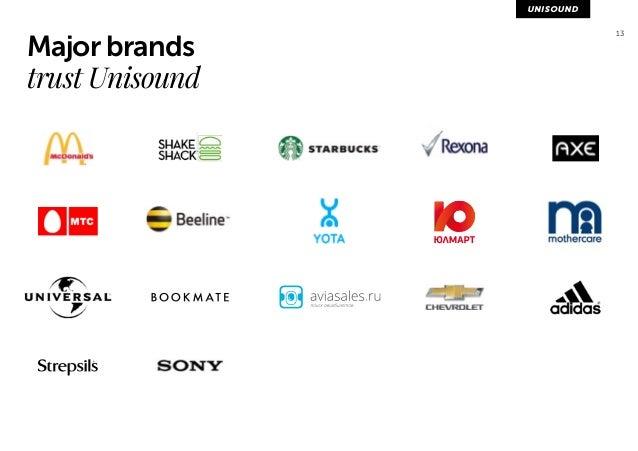 13 Major brands  trust Unisound
