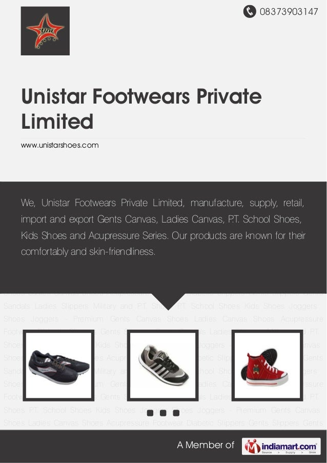 08373903147 A Member of Unistar Footwears Private Limited www.unistarshoes.com Joggers Shoes Joggers - Premium Gents Canva...