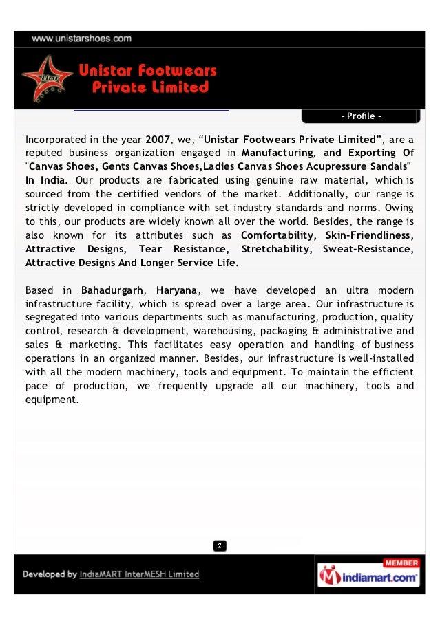 Unistar Footwears Private Limited, Haryana, Foot Wears Slide 2
