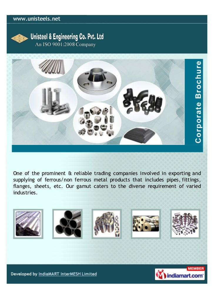 One of the prominent & reliable trading companies involved in exporting andsupplying of ferrous/non ferrous metal products...