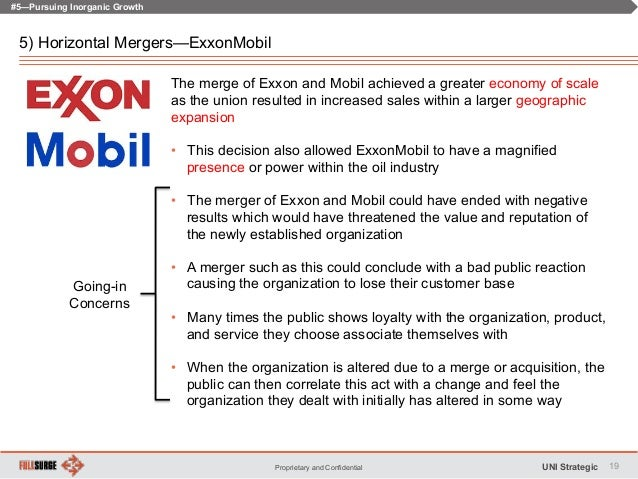 an analysis on the merger of exxon and mobil