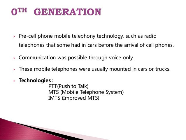 generation of mobile communication Comparative study between the generations of  study between the generations of mobile communication  three generation of mobile communication along.