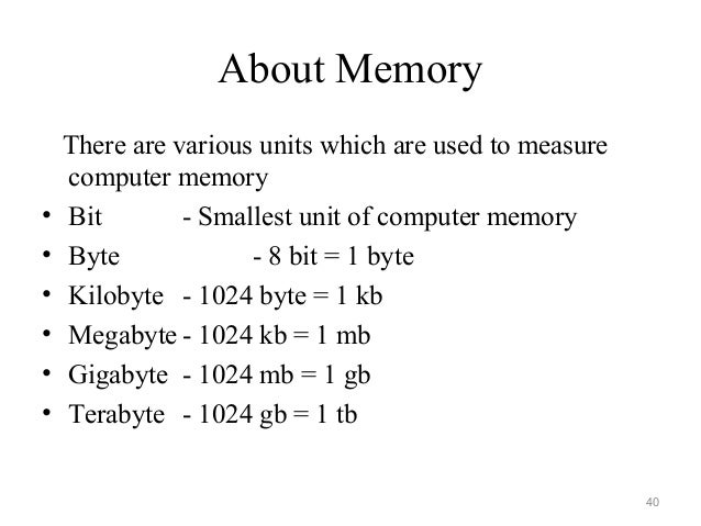 units of storage in computer pdf