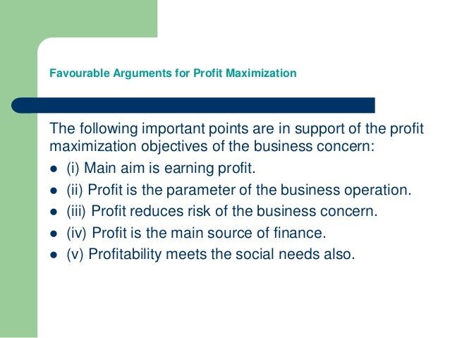 Limitations Of Profit Maximization Objective Research Paper