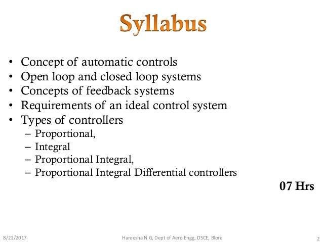 introduction to control systems Behavior of that system the overview handout provides a more detailed introduction, including the big ideas of the session, key vocabulary, what you should understand (theory) and be able to do (practice) after completing this session, and additional resources session 6 handout: designing control systems (pdf).