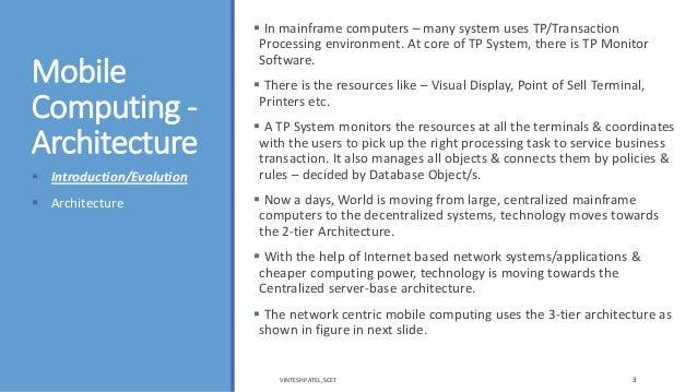 Unit 1 - mobile computing introduction