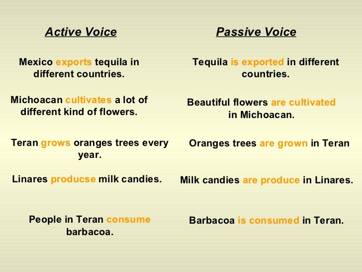 passive voice past tense exercises pdf