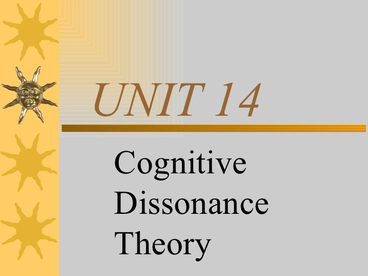 UNIT 14 Cognitive Dissonance Theory