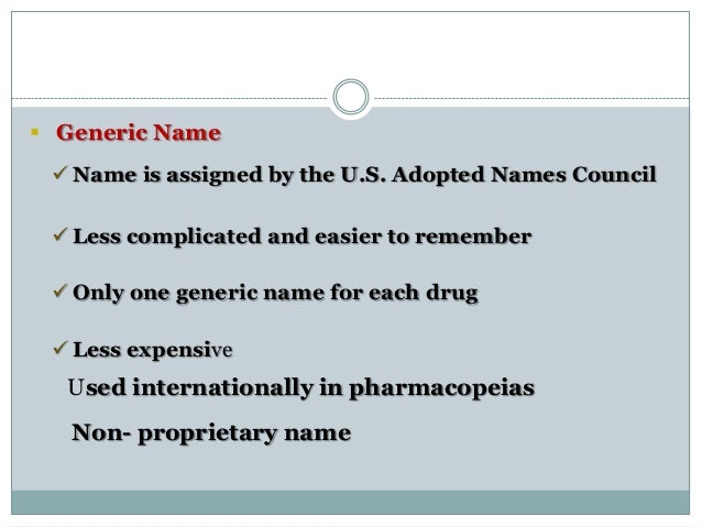 Systematic trivial generic and trade names of aspirin