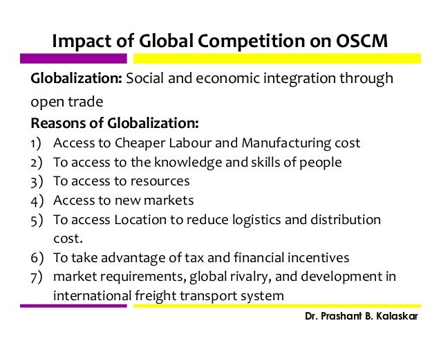 impact of globalization on supply chain management pdf