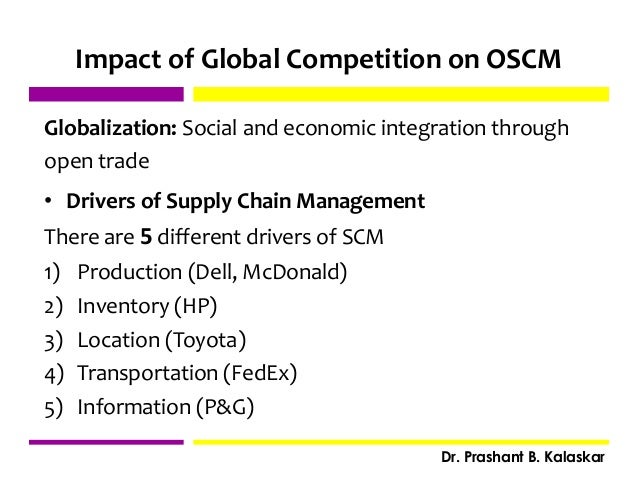 the impact of globalisation on supply chain management Bob ferrari has some good observations over at his supply chain matters blog  about the impact of globalization on supply chain management.