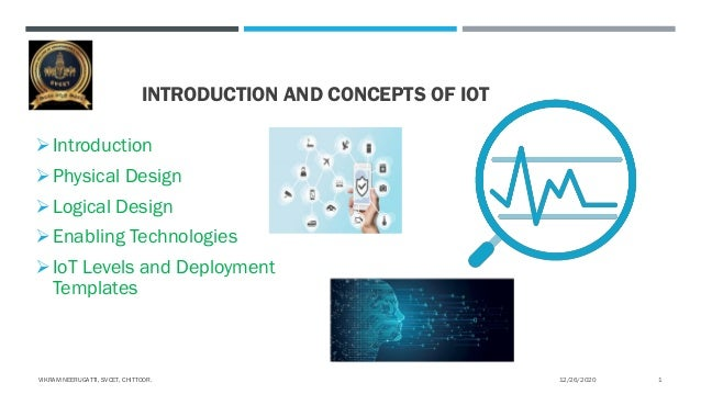 INTRODUCTION AND CONCEPTS OF IOT  Introduction  Physical Design  Logical Design  Enabling Technologies  IoT Levels an...