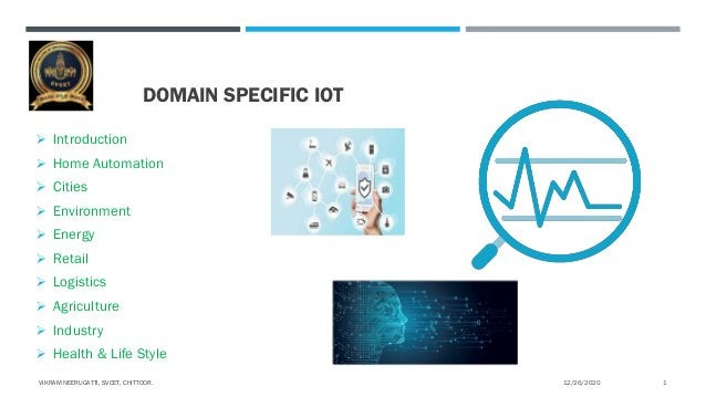 DOMAIN SPECIFIC IOT  Introduction  Home Automation  Cities  Environment  Energy  Retail  Logistics  Agriculture  ...
